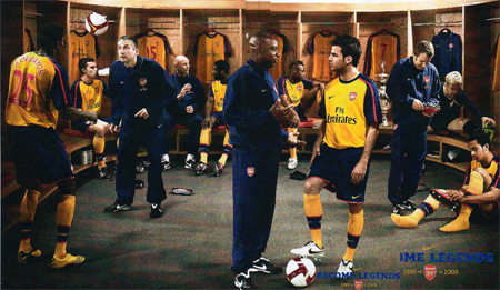 Arsenal Players in New Away Kit 08/09