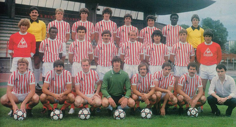 The 1983-84 AS Cannes squad  Wenger far left in the middle row  whilst    Arsene Wenger Player